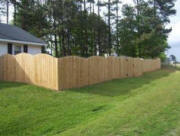 Wood Convex Fence Charlotte NC