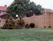 Wood Concave Fence Fort Mill